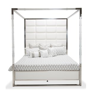 State St Upholstered Canopy Bed by Michael Amini