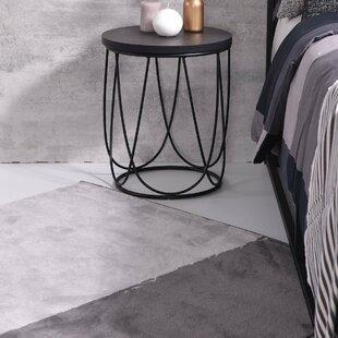 Metal Nightstand in Gray