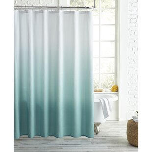 Best Reviews Wicker Park Ombre Shower Curtain ByMercury Row