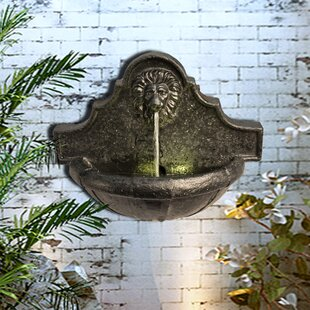 Horton Resin Wall Fountain With LED Light By Sol 72 Outdoor