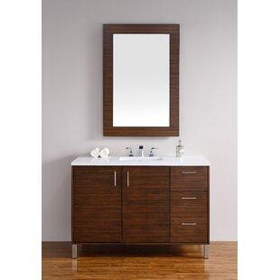 Cordie 48 Single American Walnut Bathroom Vanity Set by Orren Ellis