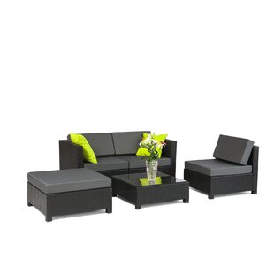 Alvin 5 Piece Sofa Set with Cushions