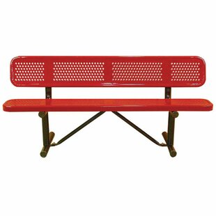 Leisure Craft Standard Perforated In Ground Metal Park Bench