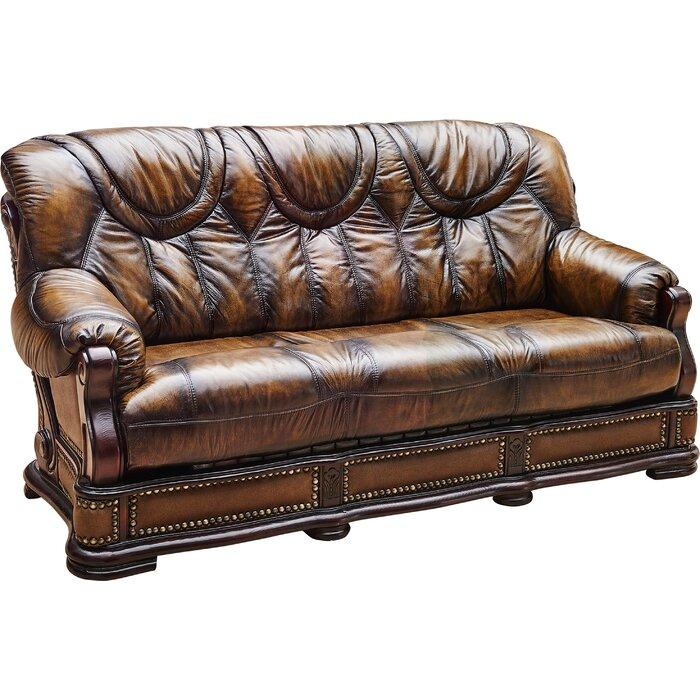 Renton Leather Sofa Bed