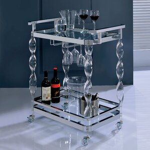 Colbey Contemporary Bar Cart by Orren Ellis