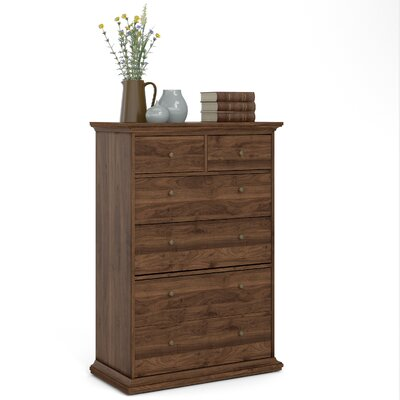 Breckenridge 6 Drawer Standard DresserChest Color: Walnut by Beachcrest Home