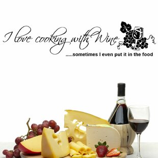 I Love Cooking With Wine Wall Decal