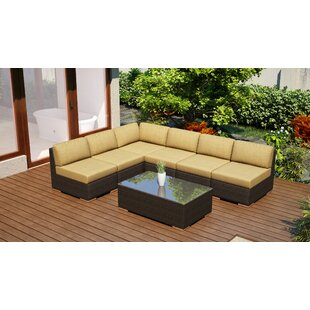 Harmonia Living Arden 7 Piece Sectional Set with Cushions