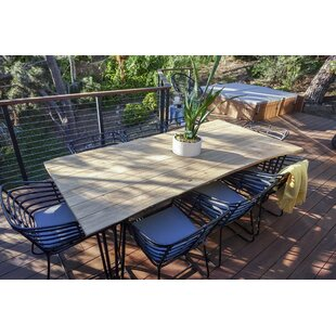 Harmonia Living Exo 9 Piece Teak Dining Set with Cushions