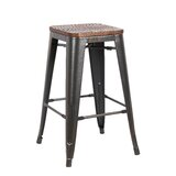 Peeples Solid Wood Bar Stool (Set of 4) by Williston Forge