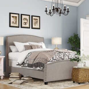 Mia Upholstered Panel Bed by DarHome Co Cheap