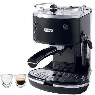 DeLonghi Icona 15-Bar Pump Driven Semi-Automatic Espresso Machine and 2 Espresso Glasses DeLonghi