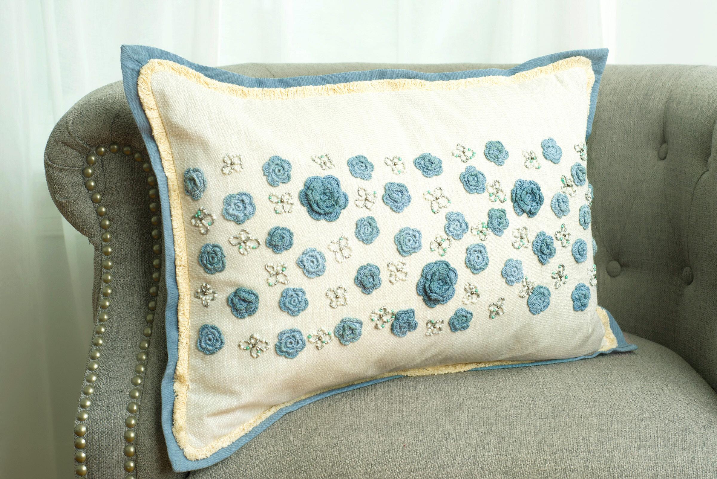Highland Dunes Calera Floral Decorative Cotton Lumbar Pillow Wayfair