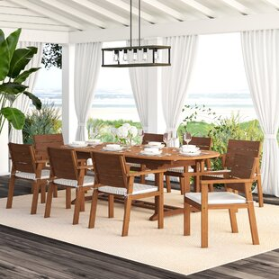 Gaeta 9 Piece Dining Set with Cushions