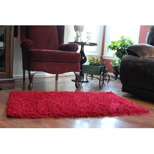 Chenille Red Area Rug
