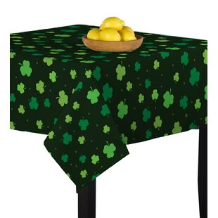 Caius Tossed Shamrocks Deep Forest Table Cloth