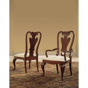 Staas Splat Back Arm Chair (Set of 2) Astoria Grand