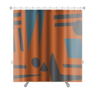Tribal Abstract Footprints and Shadows Premium Single Shower Curtain