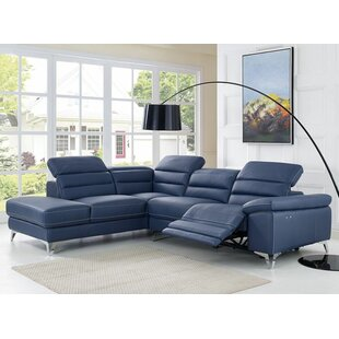 Wade Logan Westall Leather Reclining Sectional