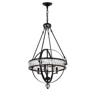 4-Light Globe Chandelier by CWI Lighting