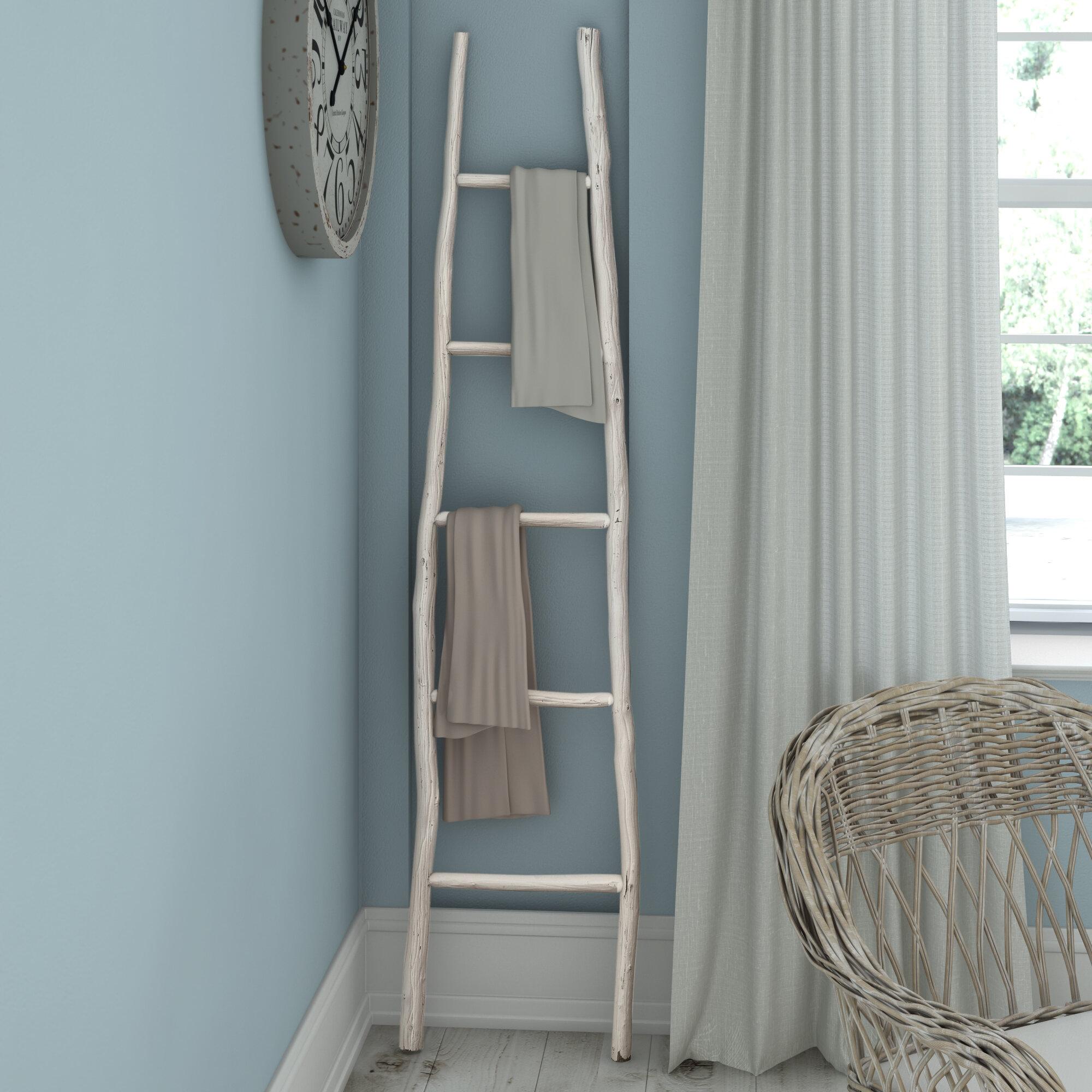 Beachcrest Home Painted Wood 6 ft Decorative Ladder & Reviews | Wayfair