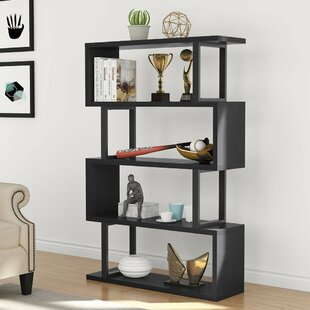 Holroyd 4-Shelf Modern Geometric Bookcase