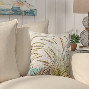Boubacar Ocean Breeze Floral Print Outdoor Throw Pillow