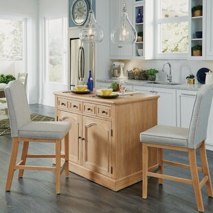 Jerkins 3 Piece Kitchen Island Set