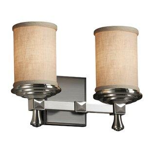Red Barrel Studio Sav 2 Light LED Cylinder w/ Flat Rim Vanity Light
