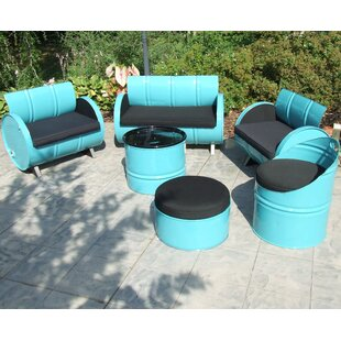 Tucson 6 Piece Sunbrella Sofa Set with Cushions by Drum Works Furniture