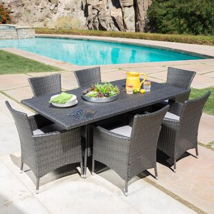 Bondy 7 Piece Dining Set with Cushions by..