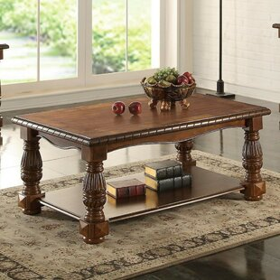 Gladsaxe Ash Burl Coffee Table by Fleur De Lis Living