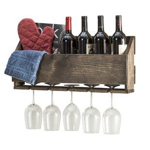 Amaryllis 6 Bottle Wall Mounted Wine Rack..