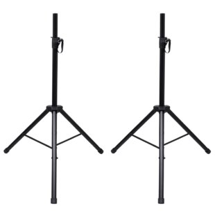 Height-Adjustable Speaker Stand Set (Set Of 2) By Symple Stuff