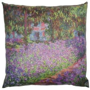 Monet Irises Throw Pillow