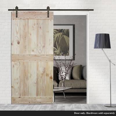 Barndoorz Single X Solid Wood Panelled Alder Interior Barn Door