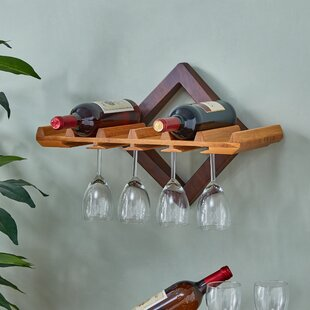 Hadsell 6 Bottle Wall Mounted Wine Rack b..