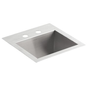 Vault Top Mount/Under Mount Bar Sink With 2 Faucet Holes