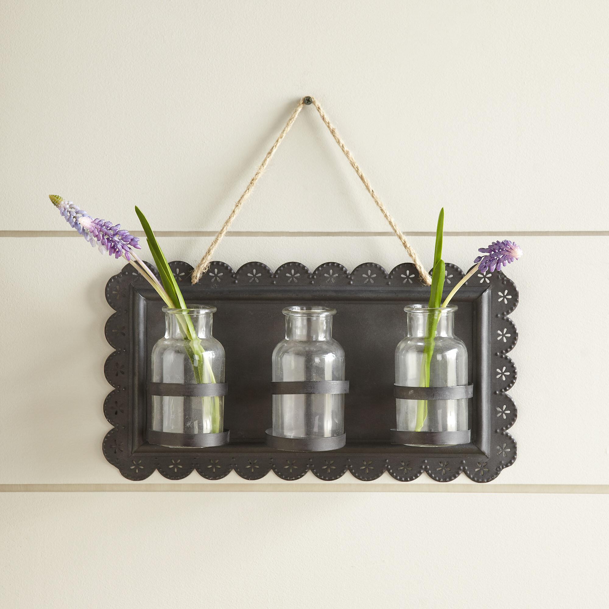 Tin hanging decor wall vase reviews birch lane reviewsmspy