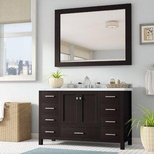 Affordable Marine 55 Single Bathroom Vanity Set with Mirror ByAndover Mills
