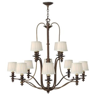 Hinkley Lighting Dunhill 12-Light Shaded Chandelier
