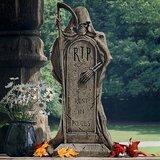 'Rest in Pieces' Grim Reaper Tombstone Statue