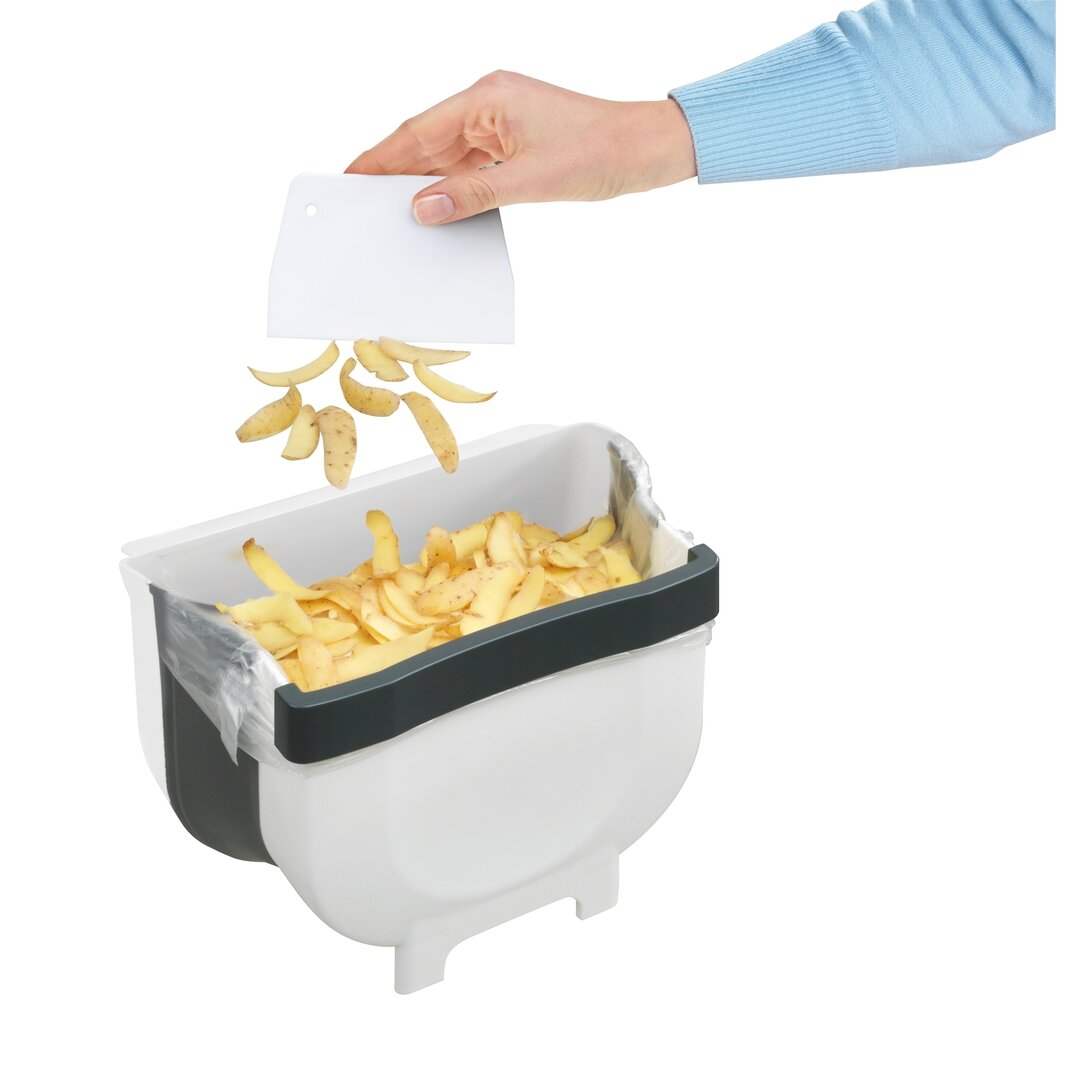 Shellie Door waste bin 5 litres, Foldable waste bin For kitc
