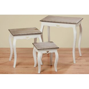One Allium Way Piatek French Country 3 Piece End Table