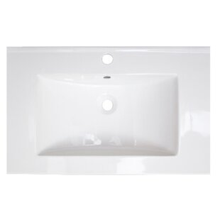 Review Vee Ceramic 21 Single Bathroom Vanity Top by American Imaginations