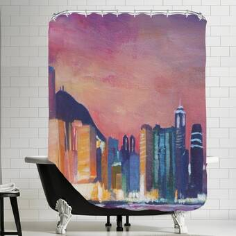 East Urban Home Midnight Mood Single Shower Curtain Wayfair