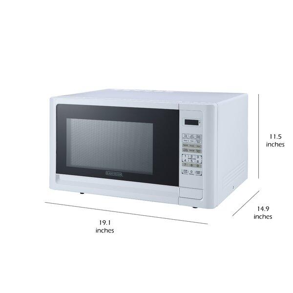 black decker 19 1 0 9 cubic feet cu ft 900 watt watt countertop microwave