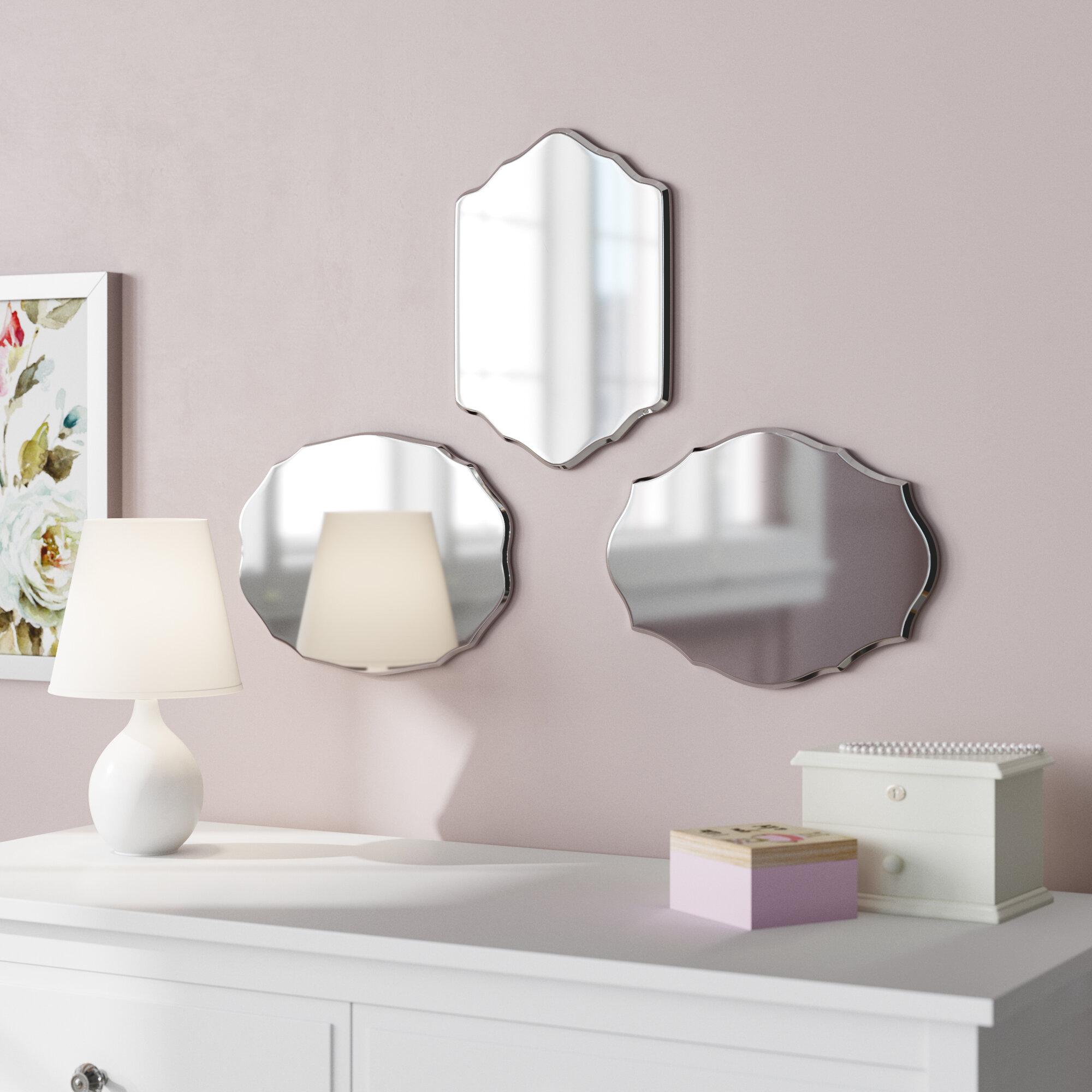 Deco Separation De Piece 3 piece leetsdale traditional mini frameless mirror set