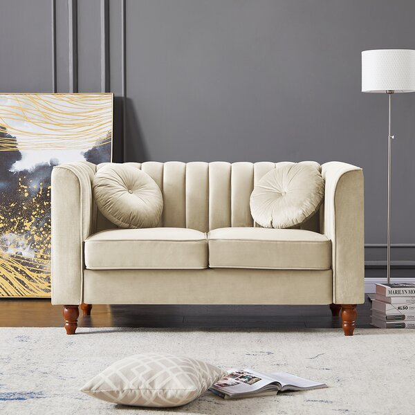 Xch Group Inc Velvet 64 Square Arm Sofa Wayfair