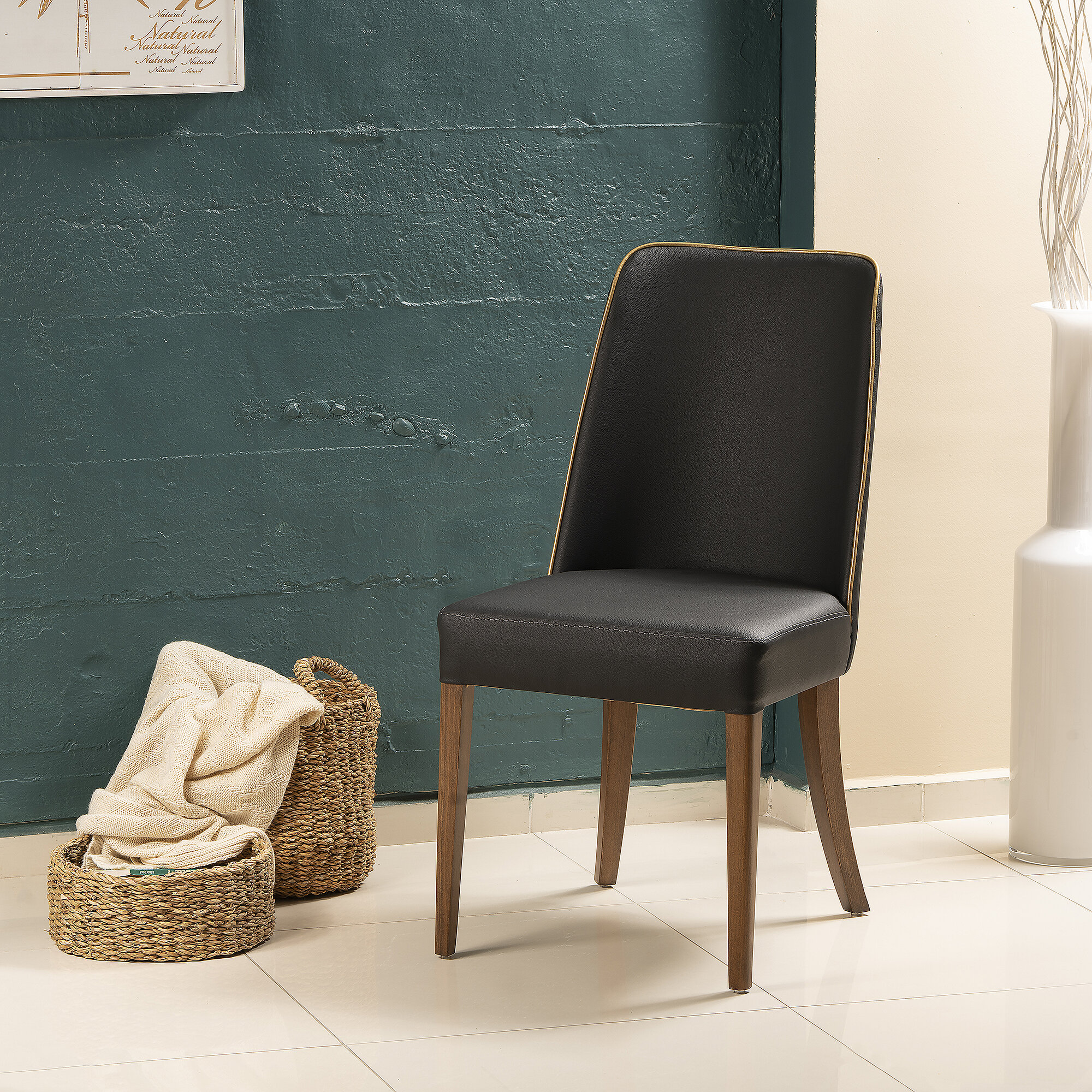 Red Barrel Studio Frostia Upholstered Side Chair In Black Wayfair